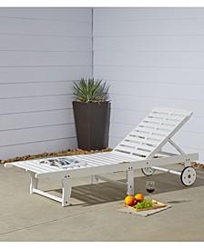 Bradley Outdoor Patio Wood Folding Sunbathing Chaise Lounge