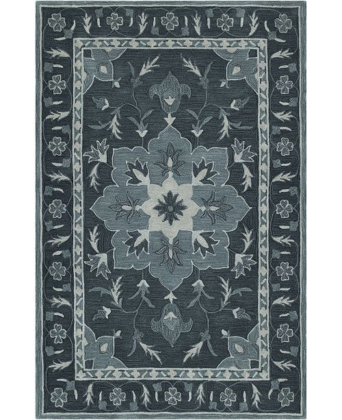 D Style CLOSEOUT! Torrey Tor4 Slate 5' X 7'6 Area Rugs