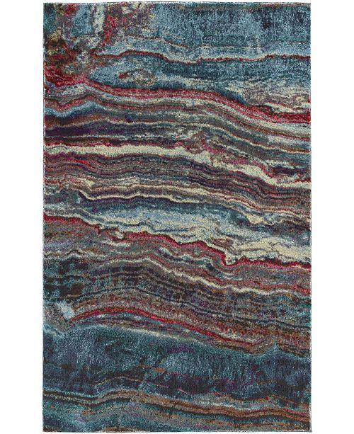 """D Style Synthesis Syn4 Agate 3'3"""" x 5'1"""" Area Rugs"""