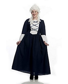 BuySeasons Women's Colonial Lady Plus Adult Costume