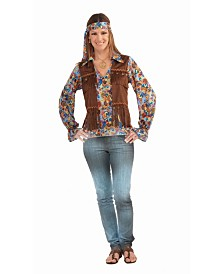 BuySeasons Women's Hippie Groovy Adult Costume Set