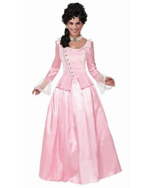BuySeasons Women's Colonial Maiden Pink Adult Costume