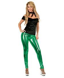 BuySeasons Women's Liquid Metal Leggings Green
