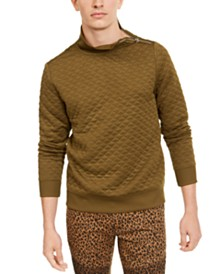I.N.C. Men's Quilted Mock Neck Pullover, Created For Macy's