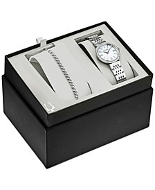 Women's Stainless Steel Bracelet Watch 33mm Gift Set