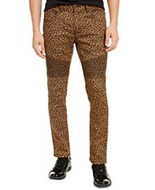 I.N.C. Men's Animal Print Skinny Jeans, Created For Macy's