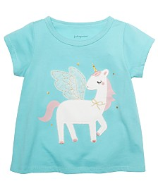 First Impressions Baby Girls Cotton Unicorn T-Shirt, Created For Macy's