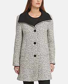 Bouclé Single-Breasted Coat, Created for Macy's
