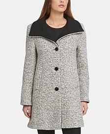 DKNY Bouclé Single-Breasted Coat, Created for Macy's