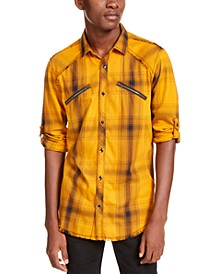 INC Men's Plaid Utility Shirt, Created for Macy's