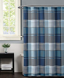 Truly Sofft Trey Plaid Shower Curtain
