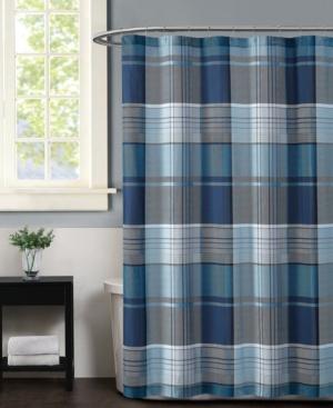 Truly Sofft Trey Plaid Shower Curtain Bedding