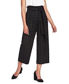 Starstruck Tie-Waist Wide-Leg Paperbag Pants