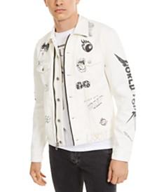 GUESS Men's Tattoo Denim Jacket