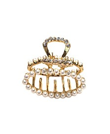 Soho Style Imitation Pearl Encrusted Mini Hair Claw