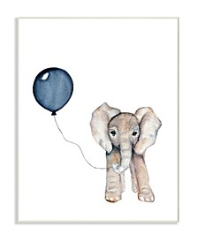 "Baby Elephant with Blue Balloon Wall Plaque Art, 10"" x 15"""