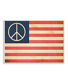 "Peace American Flag Wall Plaque Art, 10"" x 15"""