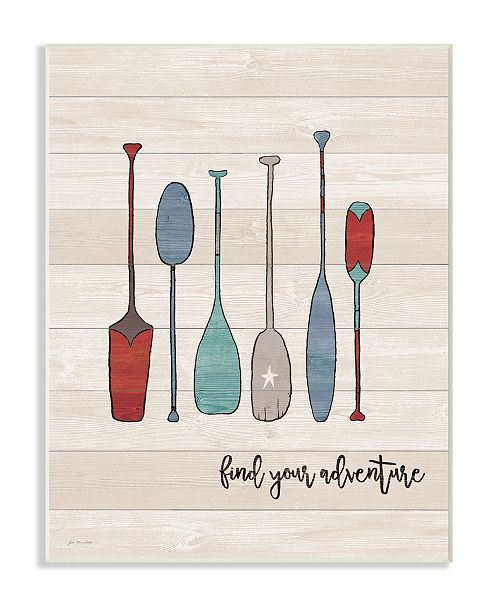 """Stupell Industries Find Your Adventure Canoe Paddles Wall Plaque Art, 10"""" x 15"""""""