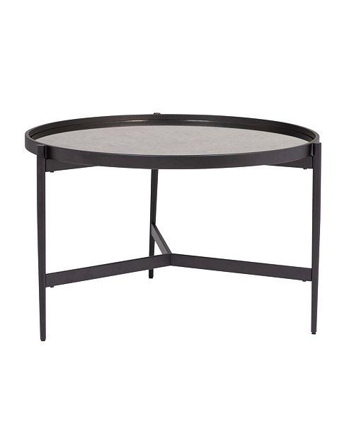 Astounding Estrade Modern Round Coffee Table Bralicious Painted Fabric Chair Ideas Braliciousco