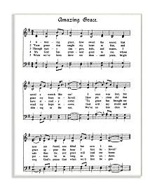"""Stupell Industries Amazing Grace Vintage-Inspired Sheet Music Wall Plaque Art, 12.5"""" x 18.5"""""""