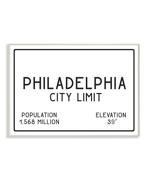 "Stupell Industries Philly City Limit Wall Plaque Art, 12.5"" x 18.5"""