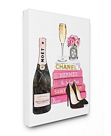 Glam Pink Fashion Book Champagne Hells and Flowers Art Collection