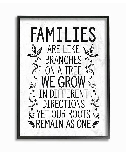 """Stupell Industries Families Are Like Branches Framed Giclee Art, 16"""" x 20"""""""
