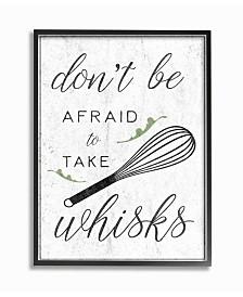 """Stupell Industries Kitchen Take Whisks! Framed Giclee Art, 16"""" x 20"""""""