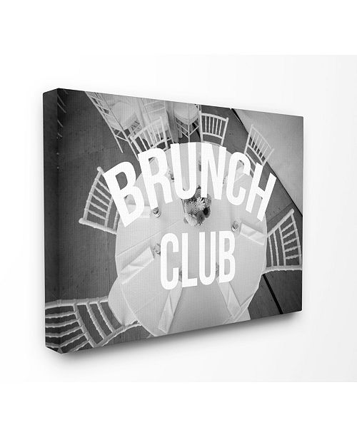 "Stupell Industries Brunch Club Table Canvas Wall Art, 30"" x 40"""