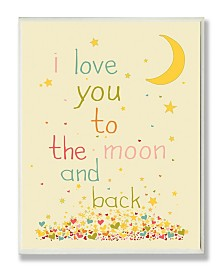 """Stupell Industries Home Decor I Love You To The Moon and Back Wall Plaque Art, 12.5"""" x 18.5"""""""