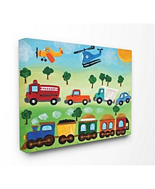 "The Kids Room Planes, Trains, and Automobiles Canvas Wall Art, 16"" x 20"""
