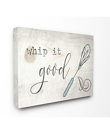 """Stupell Industries Whip It Good Whisk Canvas Wall Art, 30"""" x 40"""""""