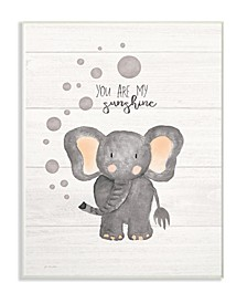 "You Are My Sunshine Elephant Wall Plaque Art, 10"" x 15"""