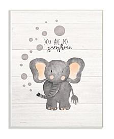 "You Are My Sunshine Elephant Wall Plaque Art, 10"" x 15"""