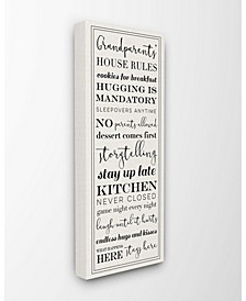 """Grandparents House Rules Canvas Wall Art, 13"""" x 30"""""""