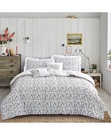 Brown & Grey Michelle 6-Piece Comforter Set - Full