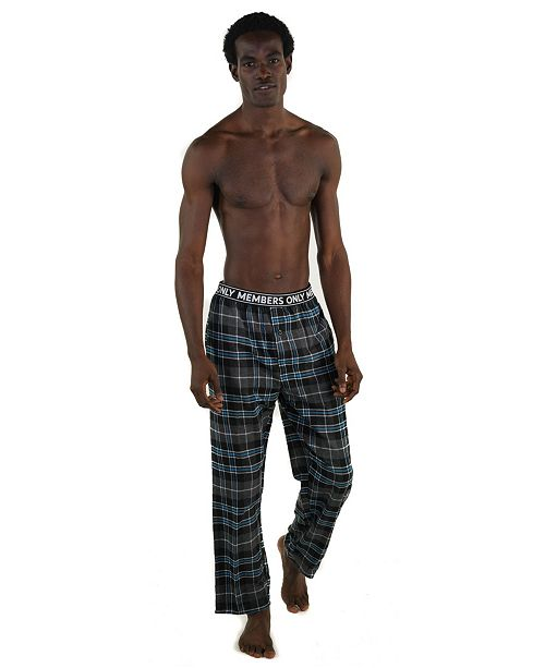 Members Only Flannel Pant with Logo Elastic