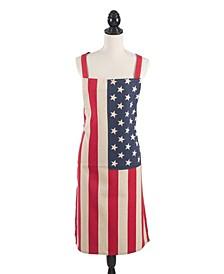 Star Spangled Collection US Flag Design Kitchen Apron