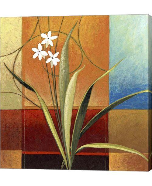 "Metaverse Narrow Palm on Patches by Pablo Esteban Canvas Art, 26.5"" x 28"""
