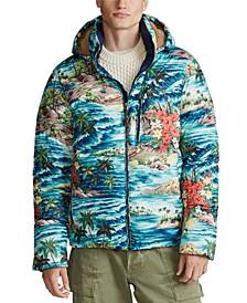 Men's Hawaiian-Print Down Jacket