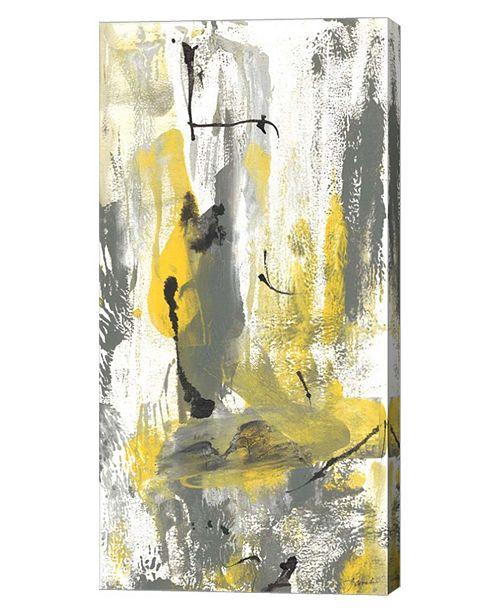 "Metaverse Gray Movement I by Joyce Combs Canvas Art, 12"" x 24"""