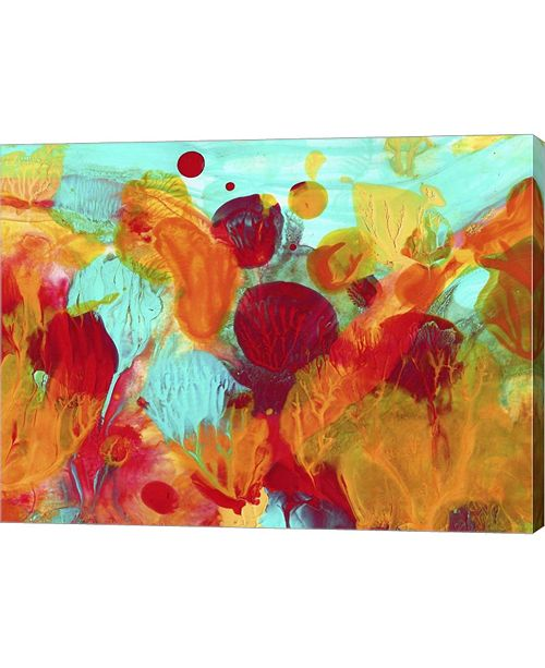 "Metaverse Colorful Under The Sea Abstract by Amy Vangsgard Canvas Art, 26.5"" x 20"""