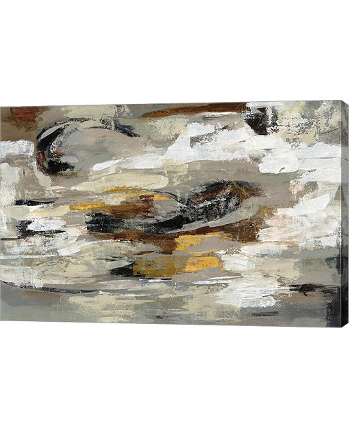 "Metaverse Neutral Abstract Gray by Silvia Vassileva Canvas Art, 29.5"" x 20"""