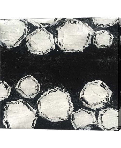 """Metaverse It's All Black and White by Leslie Saeta Canvas Art, 25"""" x 24"""""""