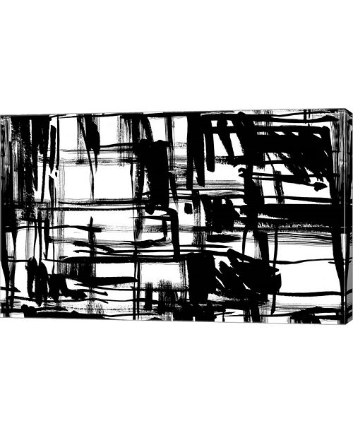 """Metaverse Black and White by Stessi Canvas Art, 25.5"""" x 16"""""""