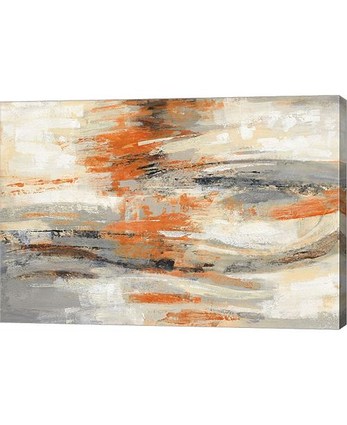 "Metaverse Golden Dust Crop Orange by Silvia Vassileva Canvas Art, 29"" x 20"""