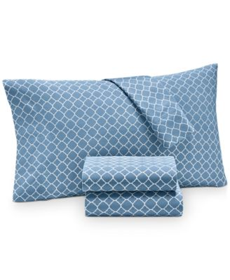 Printed Geo Extra Deep Queen 4-pc Sheet Set, 500 Thread Count, Created for Macy's