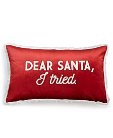 "Santa 14"" x 24"" Faux Fur Decorative Pillow"