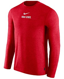 Nike Men's Ohio State Buckeyes Dri-FIT Coaches Long Sleeve Top