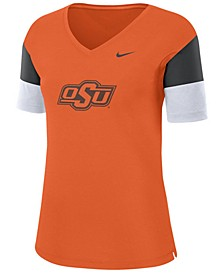 Women's Oklahoma State Cowboys Breathe V-Neck T-Shirt